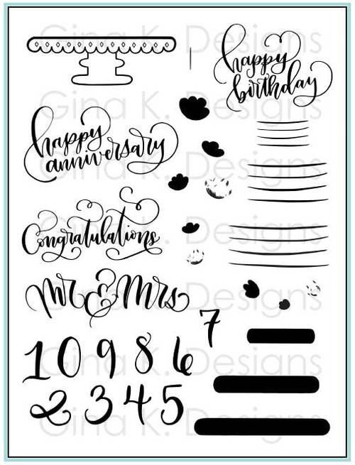 Emily Loggans - Cake Topper Stamp and Die Set