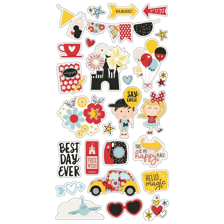 Say Cheese 4 - 6x12 Chipboard Stickers
