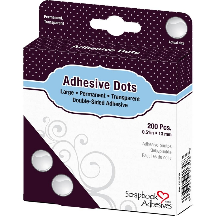 Scrapbook Adhesives Large Dots 200/Pkg