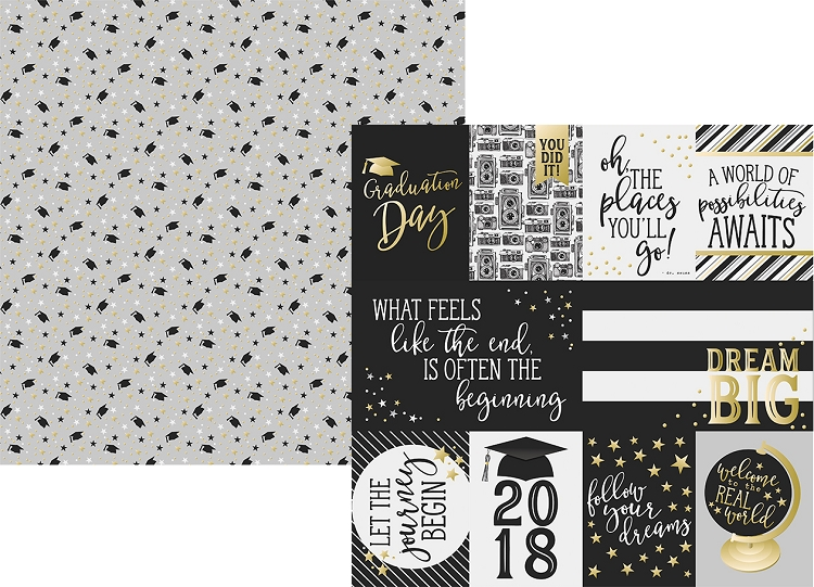 Rad Grad - 3x4 and 4x6 Journaling Card Elements