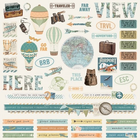 Simple Vintage Traveler - Combo Stickers