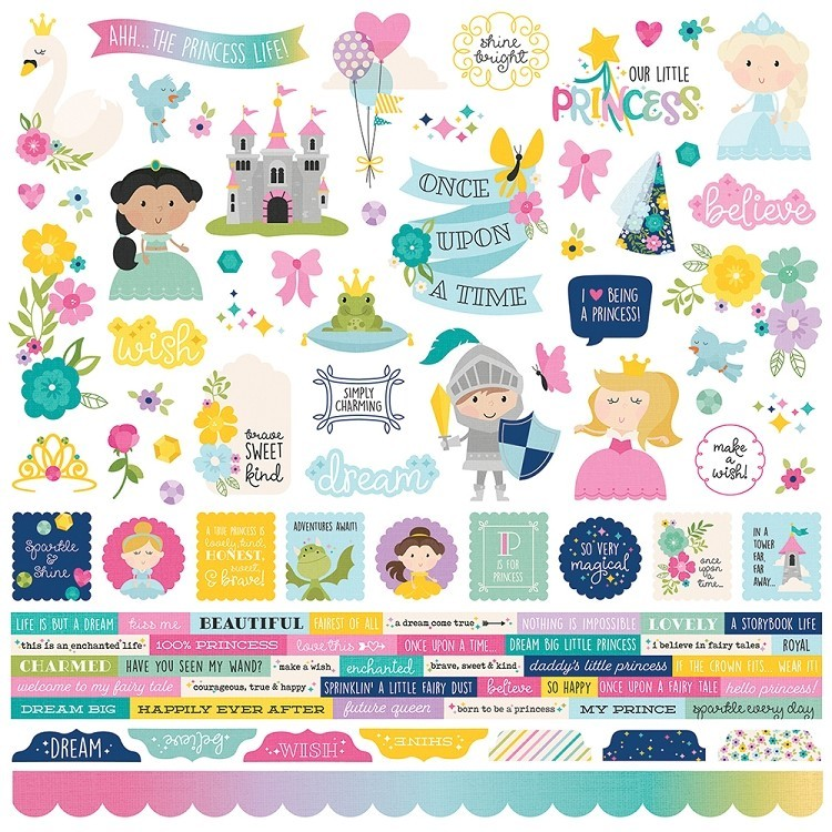 Little Princess Combo Sticker Sheet