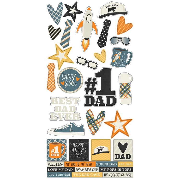 Dad Life 6x12 Stickers Sheet