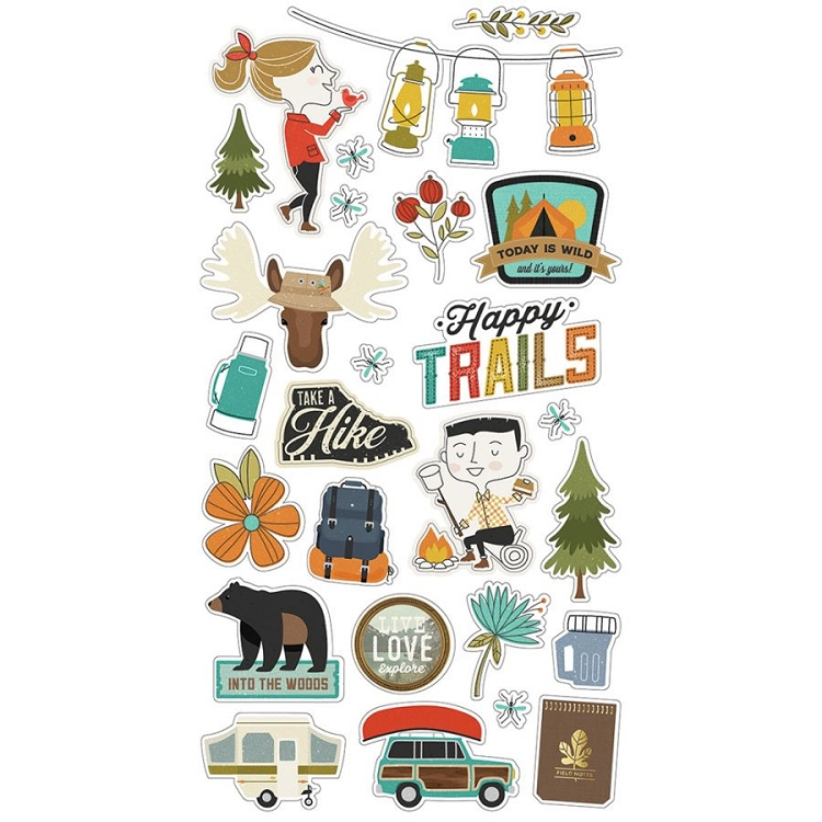 Happy Trails - 6x12 Chipboard Icons