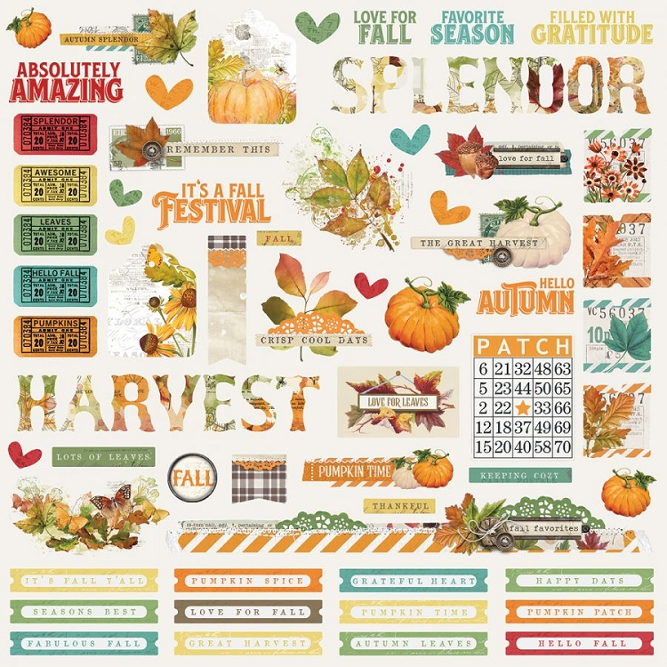 SV Autumn Splendor - 12x12 Sticker Sheet