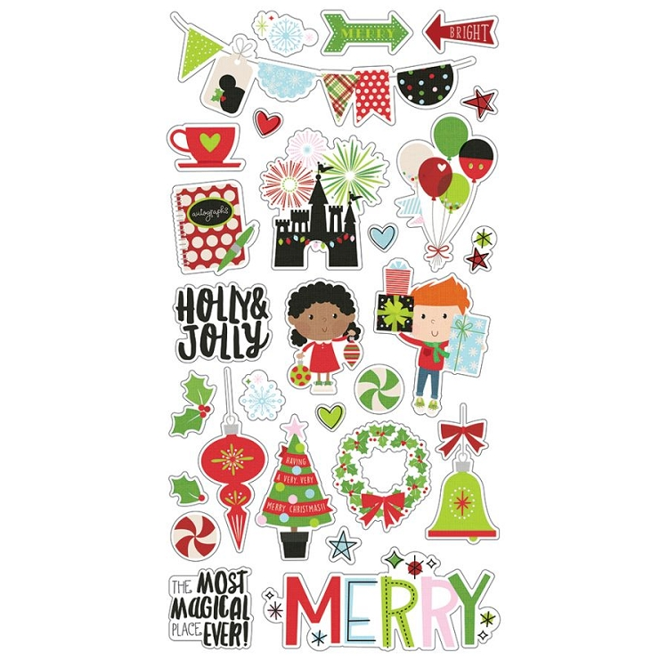 Say Cheese Christmas - 6x12 Chipboard