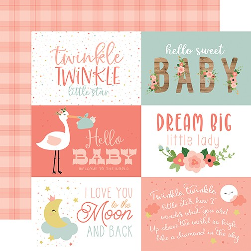 EP Baby Girl - 6x4 Journaling Cards