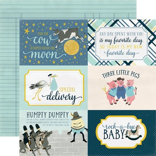 Rock a bye Baby 4x6 Journaling Cards