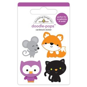 Doodlebug - Pumpkin Party -  Forest Friends Doodle-Pops