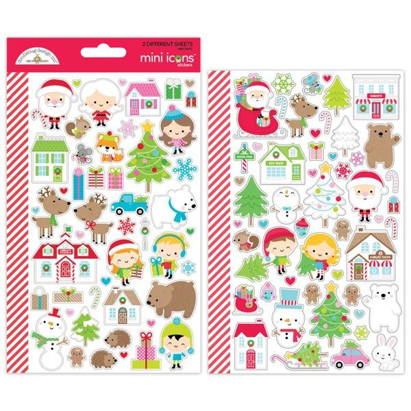 Doodlebug - Christmas Town - Mini Icon Stickers