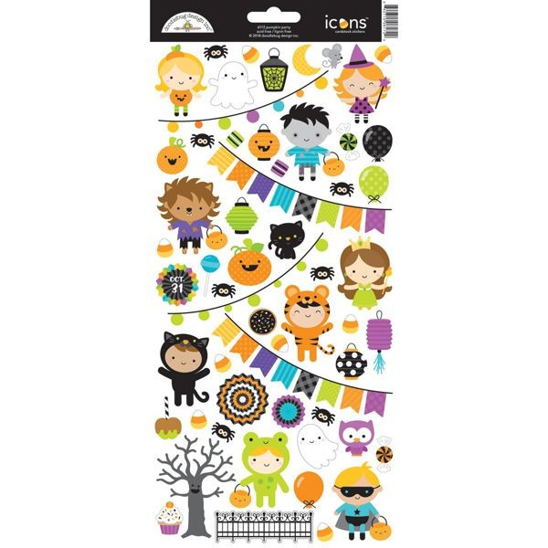 Doodlebug - Pumpkin Party - Icons Stickers