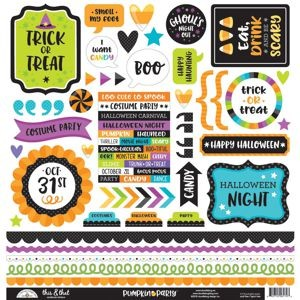 Doodlebug - Pumpkin Party - This & That Stickers