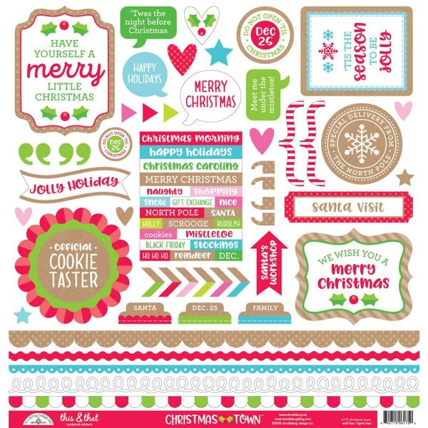 Christmas Town Sticker Sheet