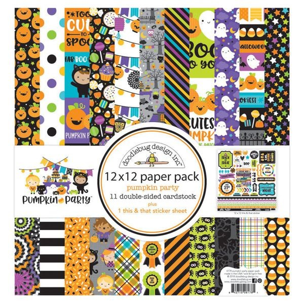 Doodlebug - Pumpkin Party - 12x12 Paper Pad
