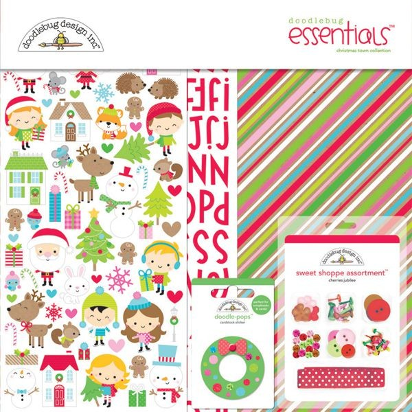 Doodlebug - Christmas Town - Essentials Kit
