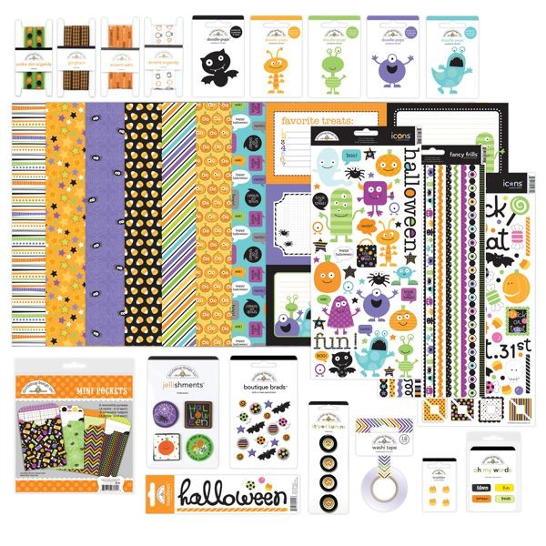 Doodlebug - Pumpkin Party - Monster Mania Value Bundle