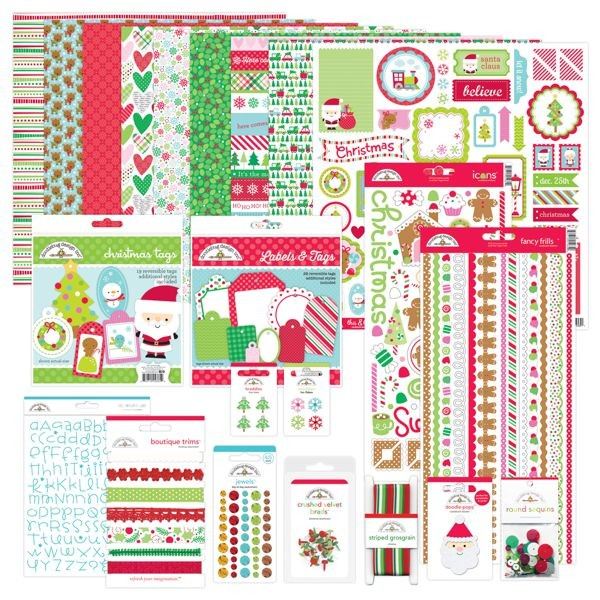Doodlebug - Christmas Town - Here Comes Santa Claus Value Bundle