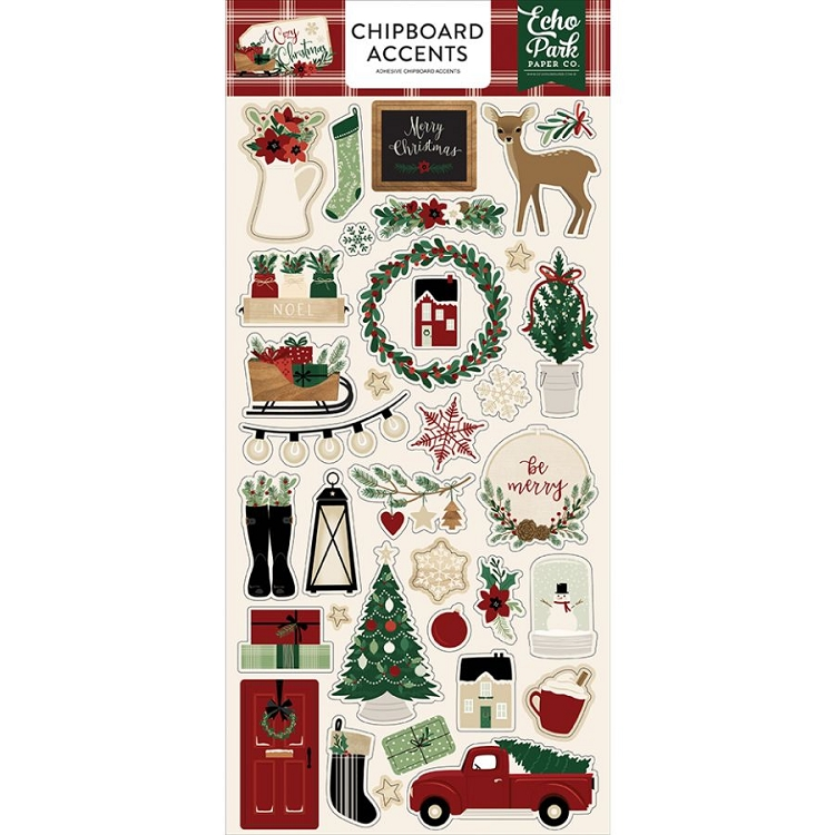 A Cozy Christmas -  6x13 Chipboard Accents