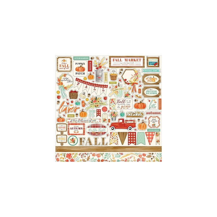 Fall Market - 12x12 Sticker Sheet