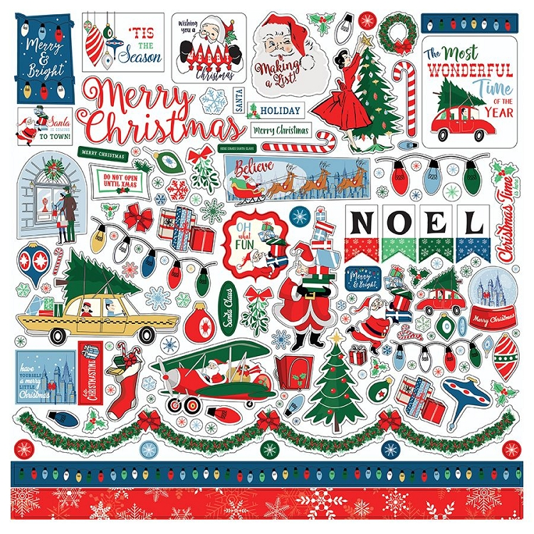 Merry Christmas - 12x12 Sticker Sheet