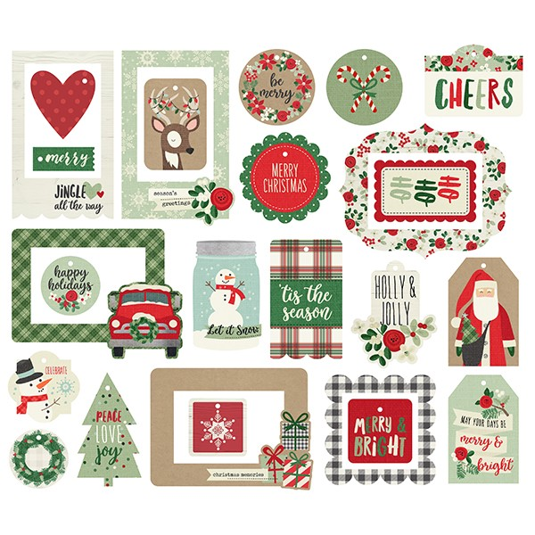 Simple Stories - Merry & Bright - Tags and Frames