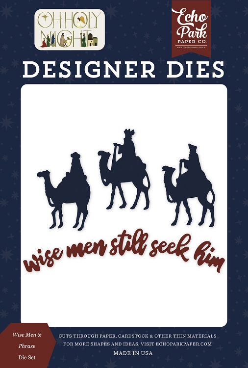 Oh Holy Night - Wise Men Phrases Die Set