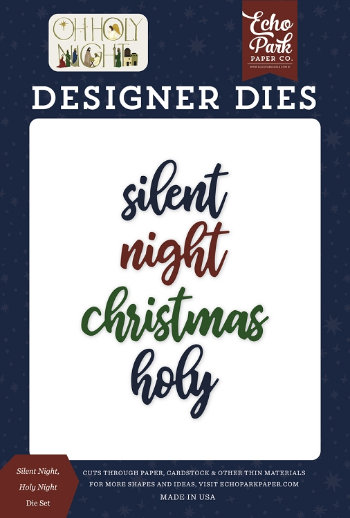 Oh Holy Night - Silent Night Holy Night Die Set