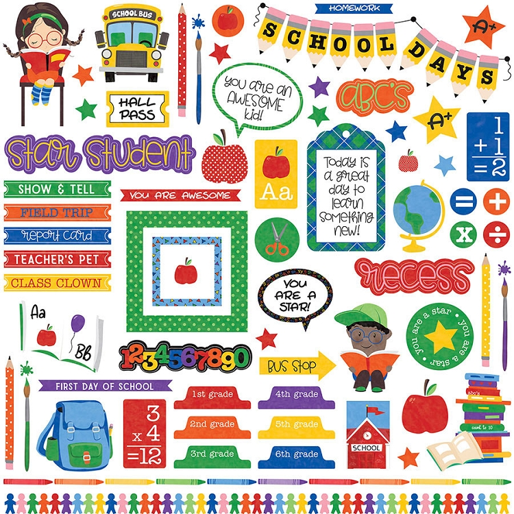 PhotoPlay - School Days - Stickers
