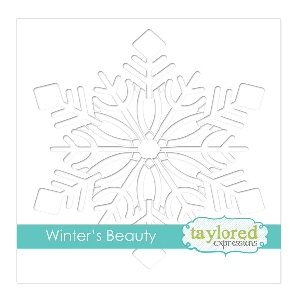 6x6 Designer Stencil - Winter's Beauty