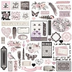 Rose Quartz Ephemera Cardstock DIe Cuts
