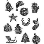 Tim Holtz Cling Stamps Mini Carved Christmas
