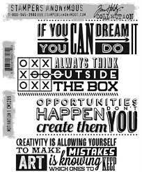 Tim Holtz Cling Stamps Motivation 1