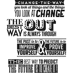 Tim Holtz Cling Stamps Motivation 2