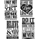 Tim Holtz Cling Stamps Motivation 3