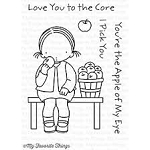 Love You to the Core Stamp and Die Set