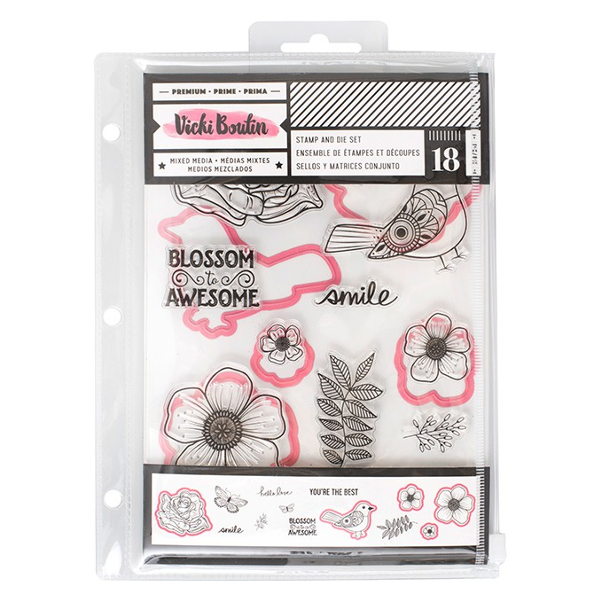 VB - Stamp DIe Floral Birds