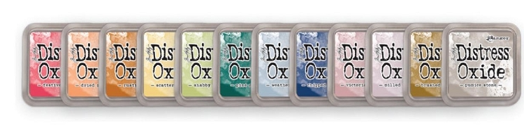 Tim Holtz Distress Oxide Ink Pad - Set of all Colours 12 Ink Pads