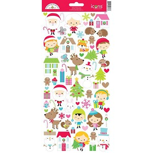 Doodlebug - Christmas Town - Icon Stickers