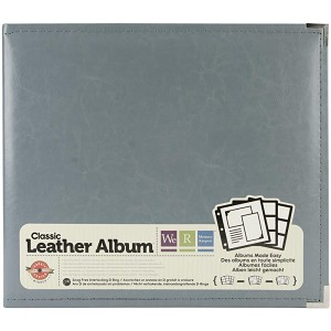 "We R Classic Leather D-Ring Album 12""X12"" Charcoal"