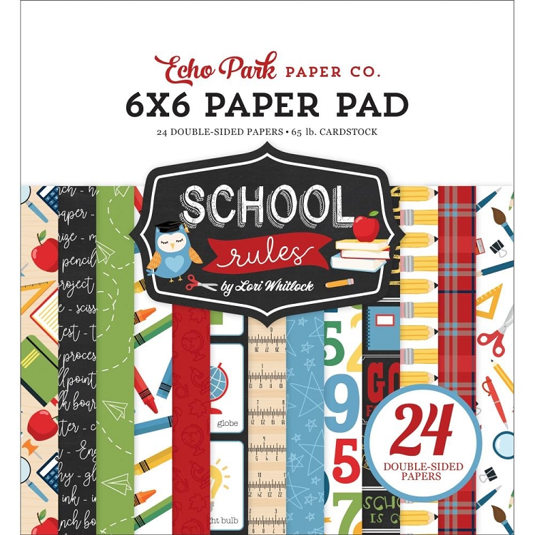 EP School Rules 6x6 Paper Pad