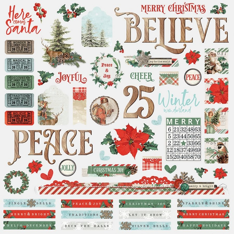SV Country Christmas - 12x12 Sticker Sheet