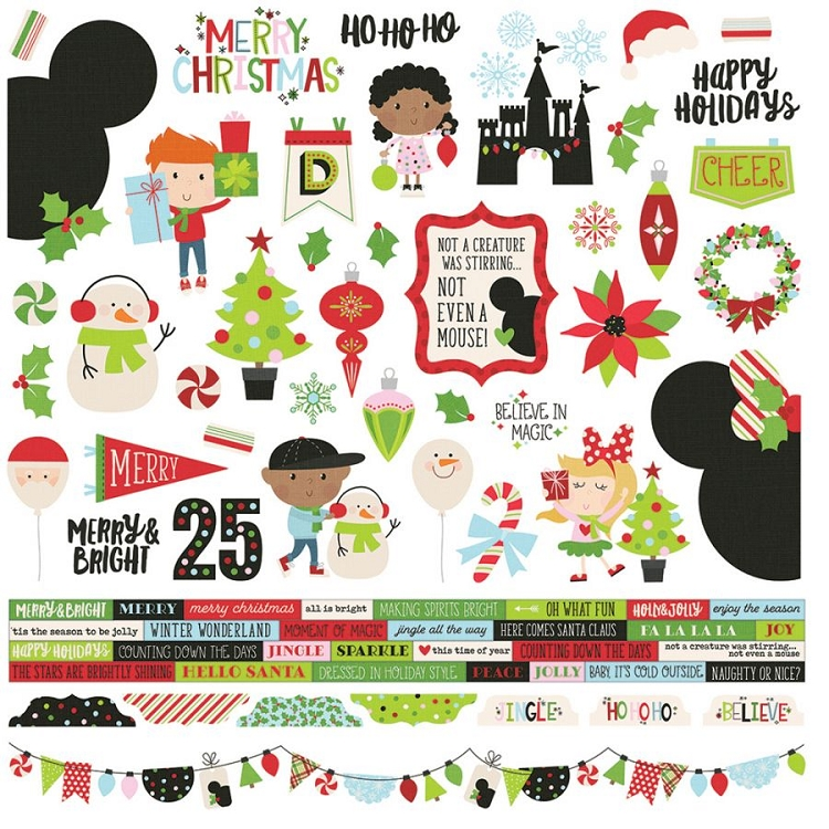 Say Cheese Christmas - 12x12 Sticker Sheet