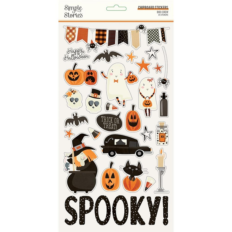 SS Boo Crew Chipboard Stickers