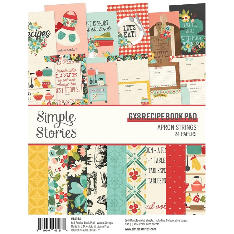 SS Apron Strings 6x8 Recipe Book Pad