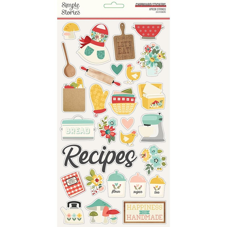SS Apron Strings - Chipboard Stickers