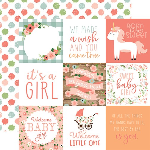 EP Baby Girl - 4x4 Journaling Cards
