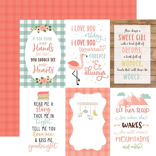 EP Baby Girl - 4x6 Journaling Card