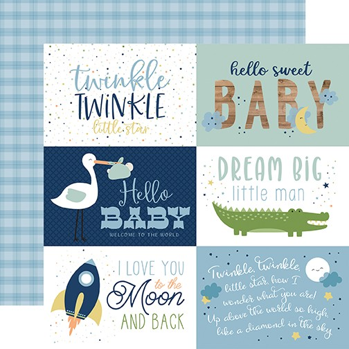 EP Baby Boy - 6x4 Journaling Cards