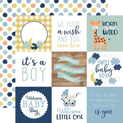 EP Baby Boy - 4x4 Journaling Cards