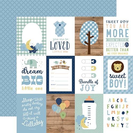 EP Baby Boy - 3x4 Journaling Cards